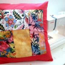 Get Started with your Sewing Machine – Make a Simple Patched Cushion Cover